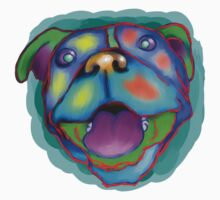 acrylic happy pit bull Kids Clothes