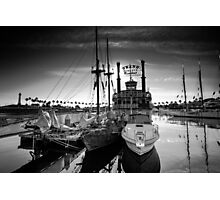 Yacht At The Pier On A Sunny Day Photographic Print