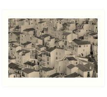 Las Casas de Casares Art Print