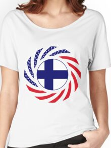 Finnish American Multinational Patriot Flag Series Women's Relaxed Fit T-Shirt