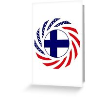 Finnish American Multinational Patriot Flag Series Greeting Card