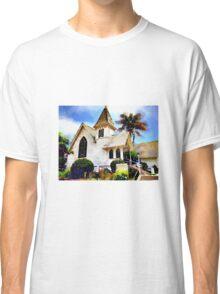 Church and Palm Tree - Redondo Beach Classic T-Shirt