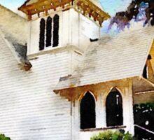 Church and Palm Tree - Redondo Beach Sticker