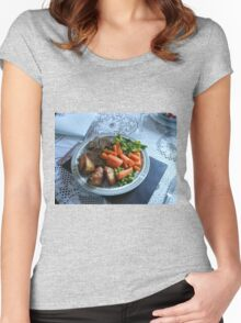 Spring Lamb and Vegetables Women's Fitted Scoop T-Shirt