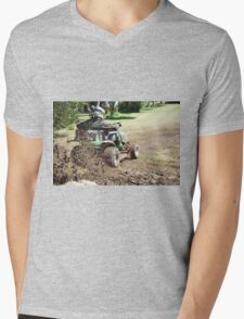 Lawn Mower Races. Mens V-Neck T-Shirt