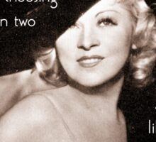 Mae West - Try the evil I've never tried before (Amazing People) Sticker