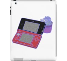 Nintendo DS and succulents - white iPad Case/Skin