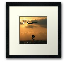 Sunrise take-off Framed Print