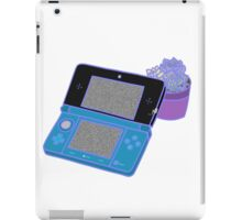 Nintendo DS and succulents - blue iPad Case/Skin