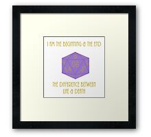 The Destroyer and the remdemer Framed Print