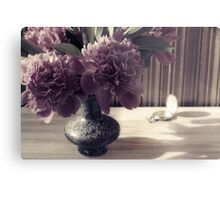 Still Life with Peonies and hours Metal Print