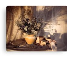 Evening still Life c with wildflowers Metal Print