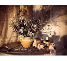 Evening still Life c with wildflowers Photographic Print