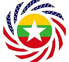 Myanmar American Multinational Patriot Flag Series Photographic Print