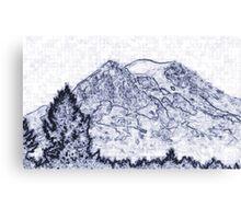 Mt. Rainier Drawing Canvas Print