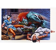 Street Fighter 2 SNES Photographic Print