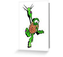 Turtle Hangin Greeting Card