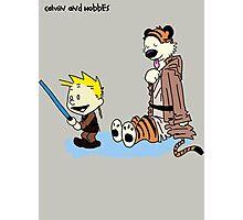 Calvin And Hobbes Star Wars Photographic Print