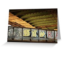 Graffiti Under the BU Bridge Greeting Card