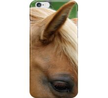 horse's eye in the foreground  iPhone Case/Skin