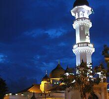Kapitan Keling Mosque At Dusk, George Town, Malaysia by Robert La Bua