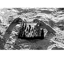 Sand Hands playing chess Photographic Print