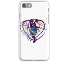 "Anatomical Kind ""Earth Heart"" Medical Circulatory Get Well Kindness iPhone Case/Skin"