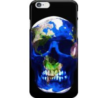 """""""LuxeMyth"""" Human-Caused Climate Change Earth Skull  iPhone Case/Skin"""