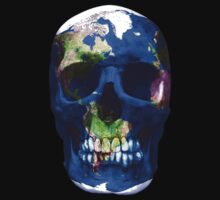"""LuxeMyth"" Human-Caused Climate Change Earth Skull  by O O"
