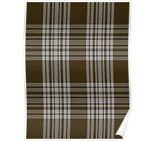 00422 Menzies Brown & White Tartan  Poster
