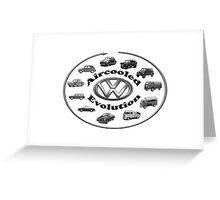 Aircooled VW - Evolution Greeting Card