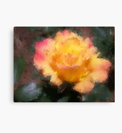 Oil Pastel Rose Canvas Print
