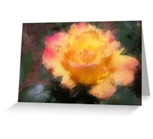 Oil Pastel Rose Greeting Card