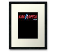 Kirk Spock 2016 Framed Print