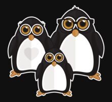 Penguin Family One Piece - Long Sleeve