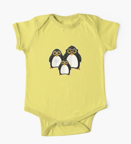 Penguin Family One Piece - Short Sleeve