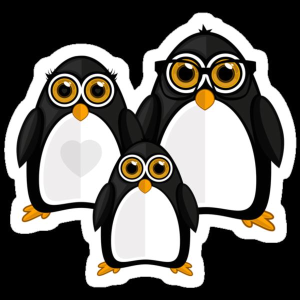 Penguin Family by Adamzworld