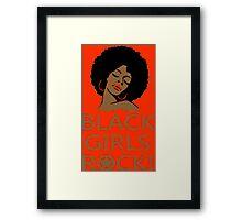 Black Girl Head - TShirts & Hoodies Framed Print