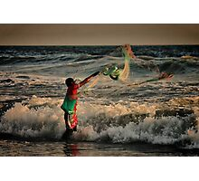Mexican Net Fisherman Photographic Print