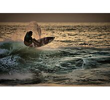 Evening Surfing Photographic Print