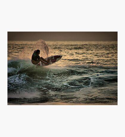 Evening Surfing Photographic Print
