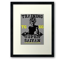 TRAINING TO GO SUPER SAIYAN! Framed Print