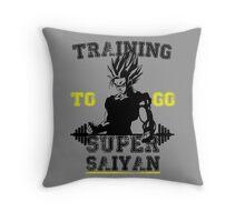 TRAINING TO GO SUPER SAIYAN! Throw Pillow