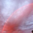 Red Rainbow Sky by Kathleen Daley