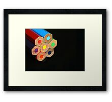 Colour Wheel Framed Print