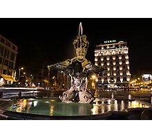 Rome's Fabulous Fountains - Bernini's Fontana del Tritone Photographic Print