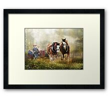 The Tractor Pull Framed Print