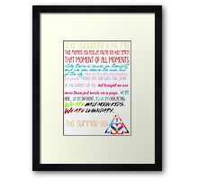 Half Moon Kids Speech Framed Print
