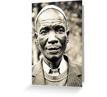Yawo Chief Greeting Card