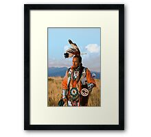 Native American Dancer Anthony Parker Framed Print